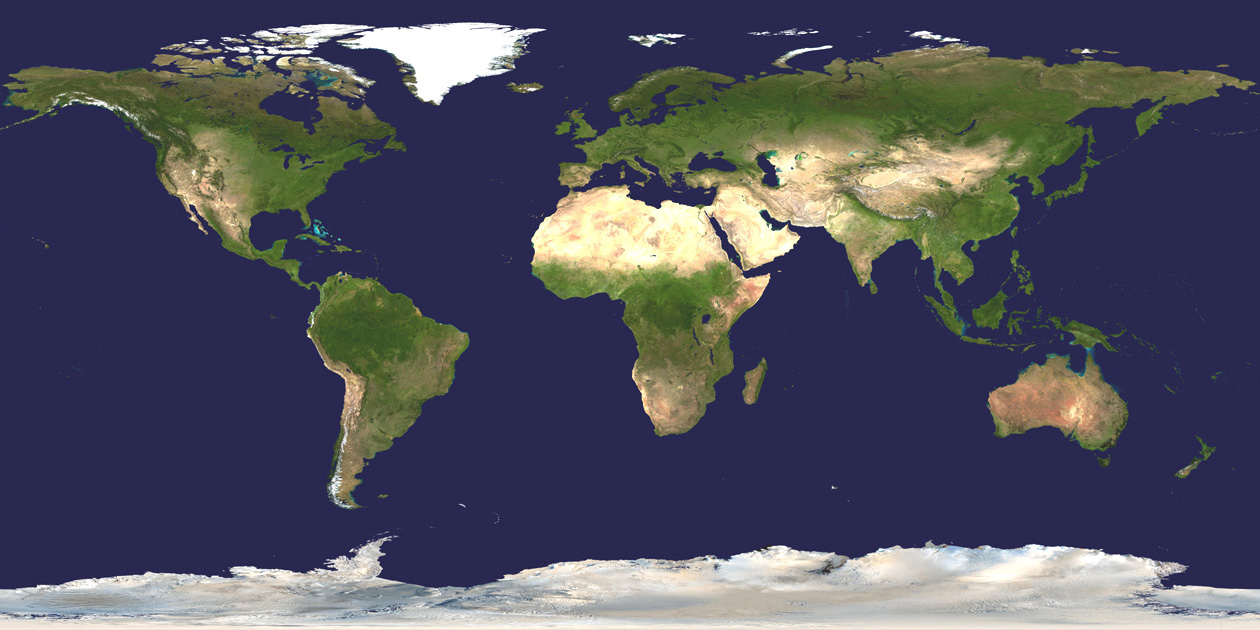 World Map by NASA